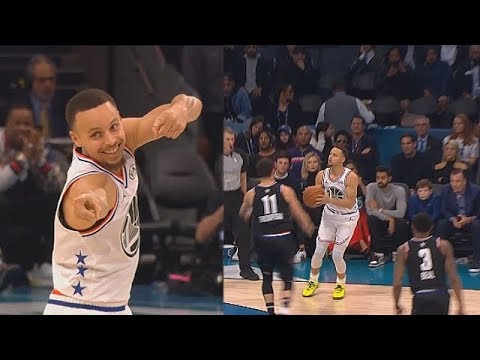 Stephen Curry Taunts Klay Thompson After 4-Point Play & Hurts His Feelings! 2019 NBA All-Star Game