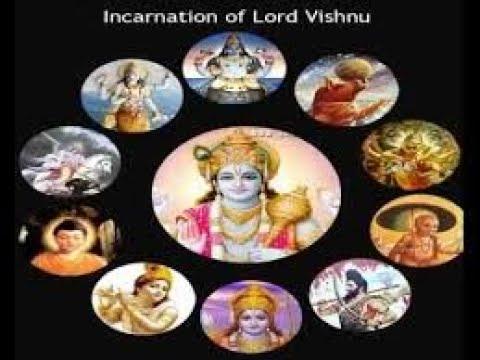 10 Avatars of Lord Vishnu. Lord Vishnu's Dasavatharam Dashavatara -10 Incarnations of Lord Vishnu