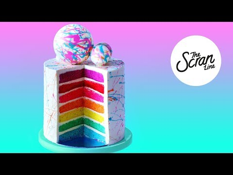 Make 300K SUBSCRIBERS RAINBOW CAKE! - The Scran Line Images