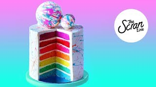 300K SUBSCRIBERS RAINBOW CAKE! - The Scran Line
