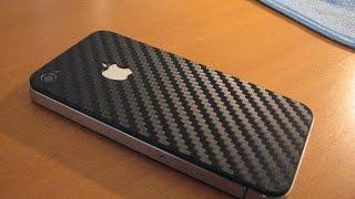 Как обтянуть карбоновой плёнкой смартфон?