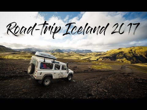 Road-trip in Iceland 2017 by drone - Defender, northern lights and epic nature