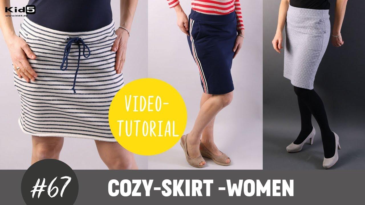 Sweatrock für Damen ganz einfach selber nähen DIY-Näh-Tutorial - YouTube