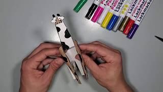 איך מכינים ג'ירפה מגליל נייר טואלט - סדנת יצירה לילדים