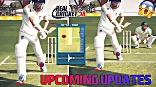 REAL CRICKET 18 NEW BIG UPCOMING UPDATES !! FULL REVIEW !! NAUTILUS MOBILE