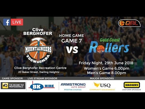 USQ QBL Live Stream Home Game 7 - Toowoomba Mountaineers vs Gold Coast Rollers