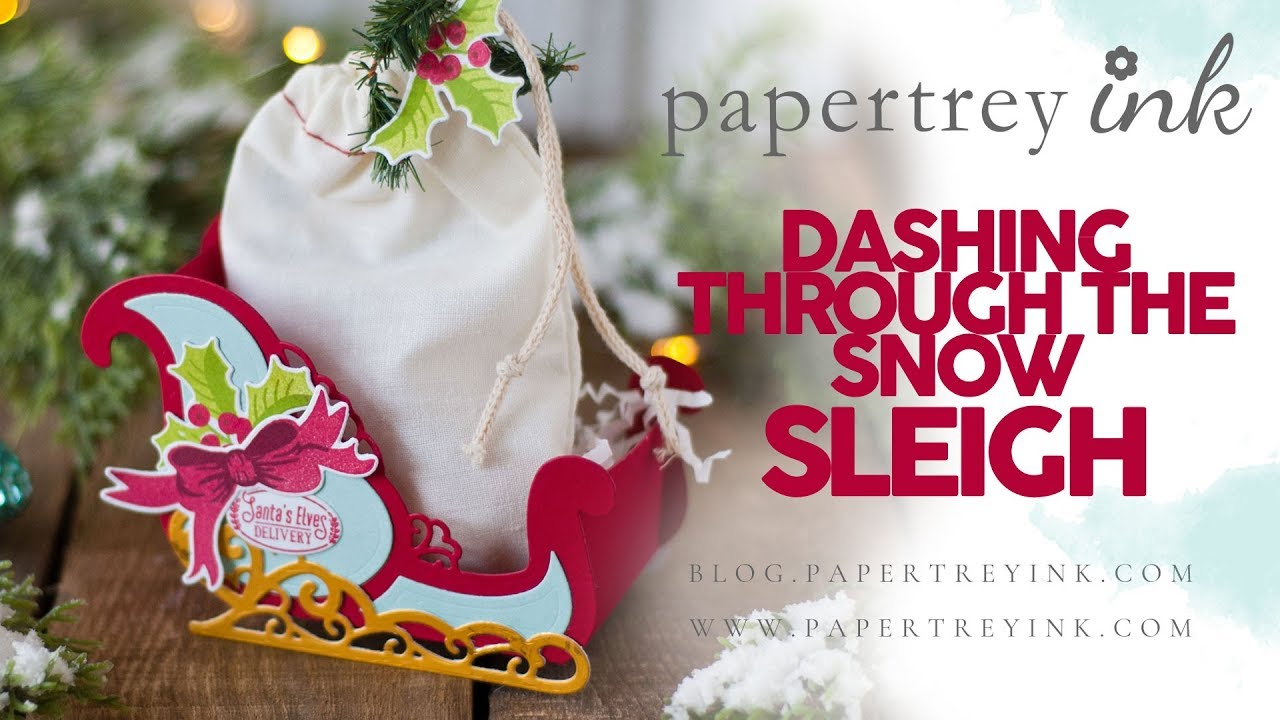 Papertrey Ink Dashing Through The Snow Sleigh Youtube