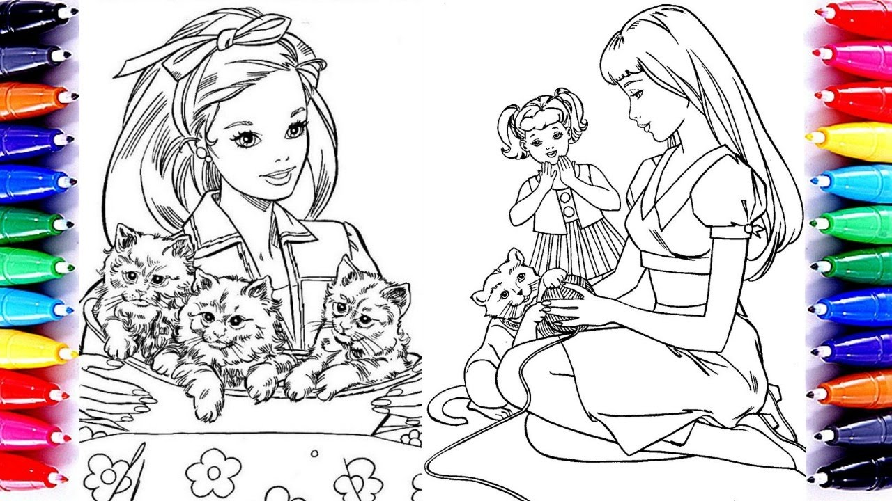 Coloring Pages Barbie And Chelsea Cats Coloring Book Video For
