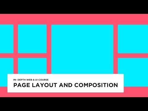 Website page layout - UI design tutorial
