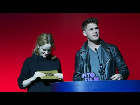 Jeremy Irvine and Sophie Rundle present Best Film 12 and under at the Into Film Awards