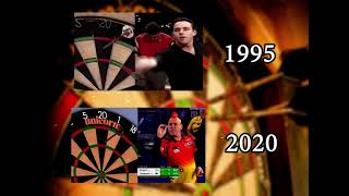 Darts players then and now