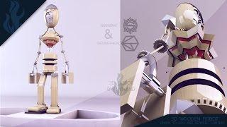 Speedmodeling: #serpentandgeo - Wooden Robot