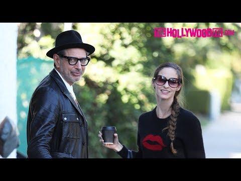 Jeff Goldblum & Emilie Livingston Stop For Refreshments At Moon Juice 1.22.18
