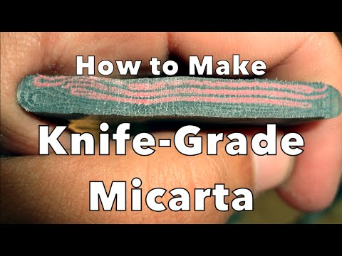 Making Micarta for Handle Scales - Sharp Works