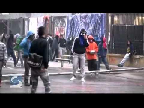 Riots in Santiago, Chile (Aug. 25 footage)