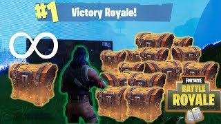 UNLIMITED CHESTS FOR THE WIN (Fortnite Battle Royale)