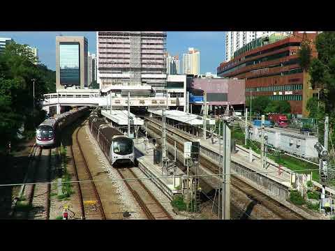 {EAL} Beijing Through Train climbing up the Local Train @ MTR ShaTin Station