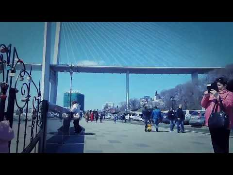 Владивосток. Набережная Цесаревича и Спортивная набережная. Прогулка. Видео от Google фото.
