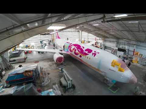 Swoop Livery | Aircraft Painting Time-lapse Video
