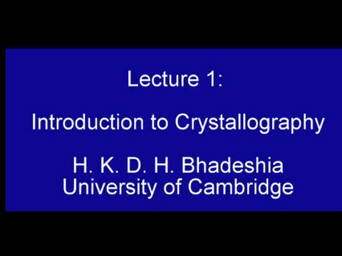 Introduction to Crystallography (2015)