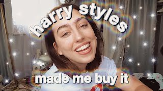 harry styles made me buy it shoes, hats, merch, and more