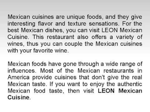 LEON Mexican Cuisine – Enjoy Nutritional Guacamole in Bergen, NJ