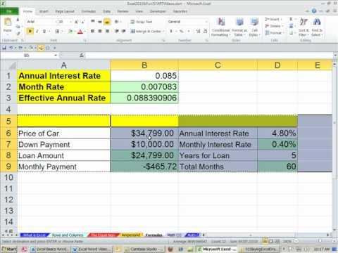 Office 2010 Class #21: Excel Formulas & Functions: Formula Inputs Numbers or Cell References?