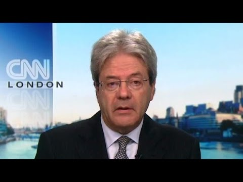 Gentiloni on Italy earthquakes, Iraq, Syria