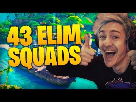 43 Elim Squads! Ft TimTheTatman & Dr Lupo