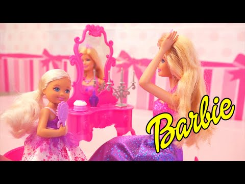 Barbie Fairytales Vanity Toy Set - A Fairy Gives Chelsea a Gift! - Stories With Toys & Dolls