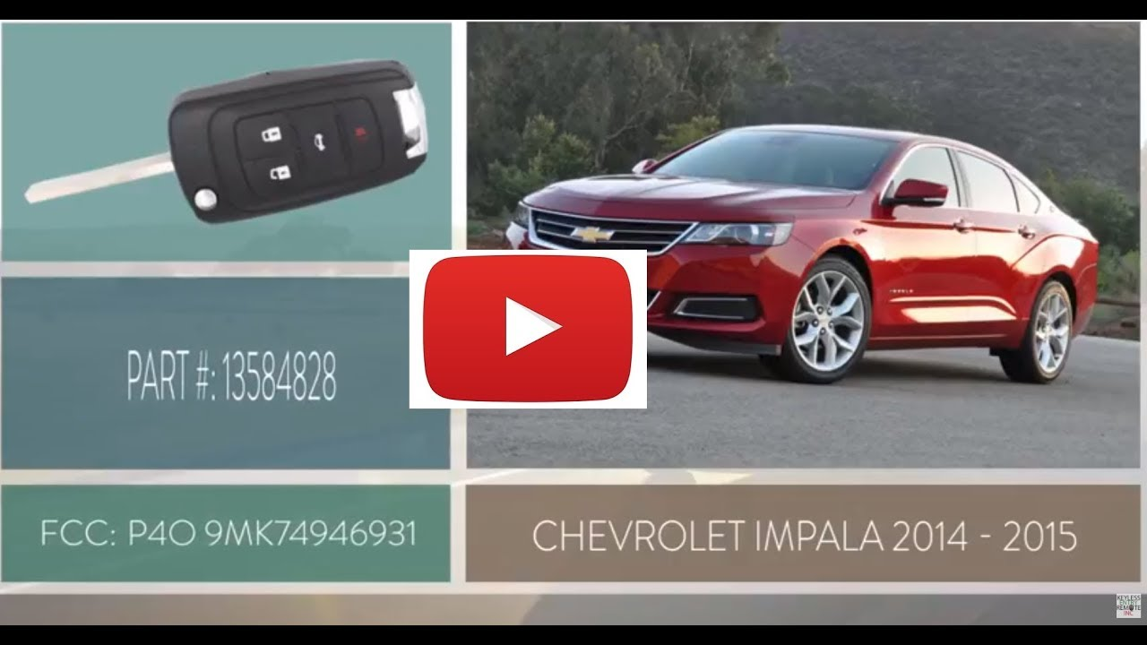 How To Change A 2014 2015 Chevrolet Impala Key Fob Battery Youtube