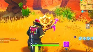 """""""Search between an Oasis, Rock Archway, and Dinosaurs"""" Location Fortnite Week 2 Challenges!"""