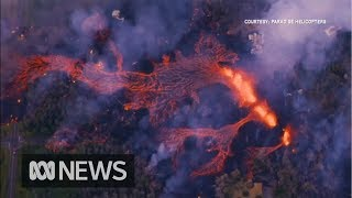 Lava destroys houses as volcano erupts in Hawaii