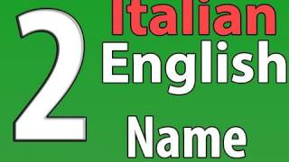 Italian/English Series 2 Video 2: What s Your Name?/Come Si Chiama?