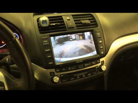 Back Up! Back up Camera Interfaced with OEM navigation on 2006 Acura TSX