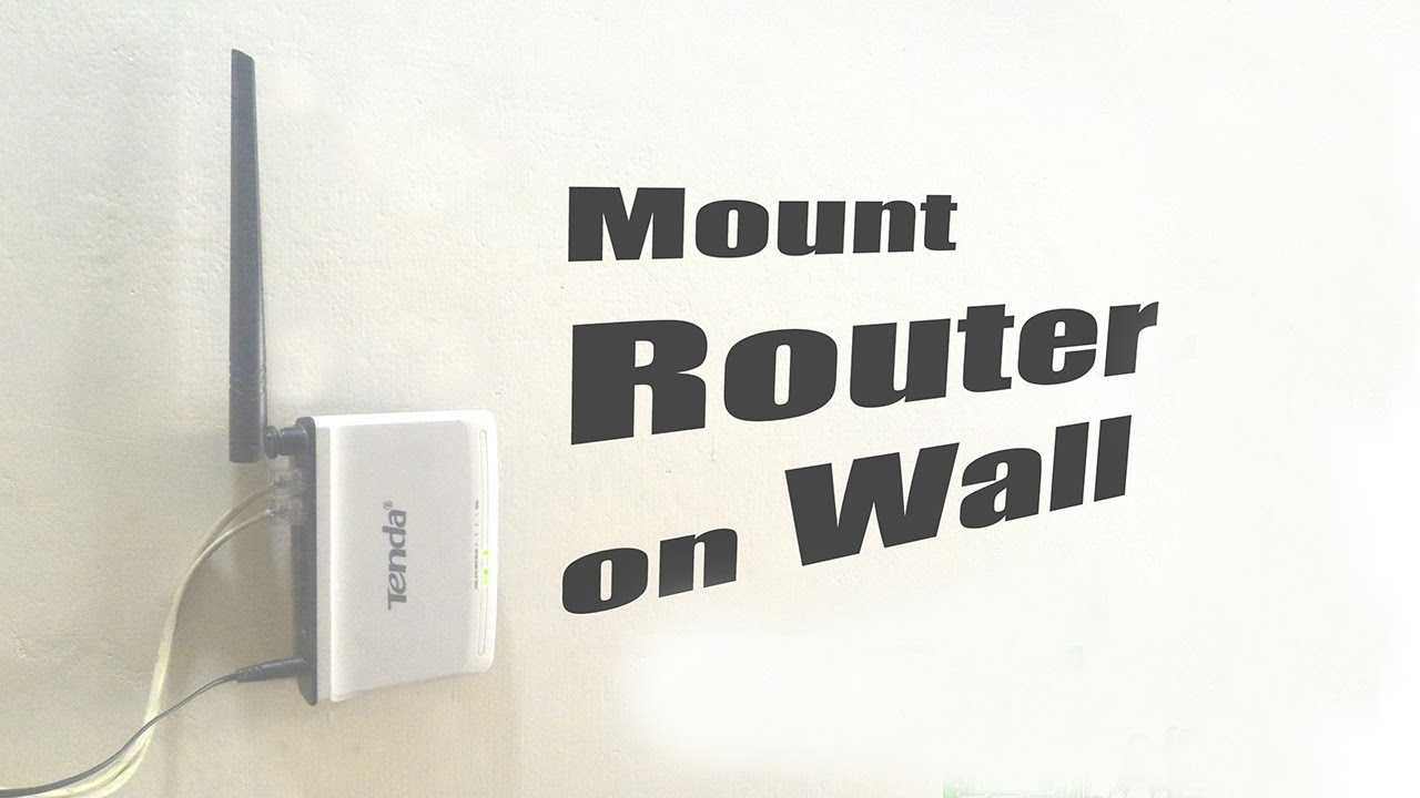 Mount Router On Wall Without Drilling Youtube