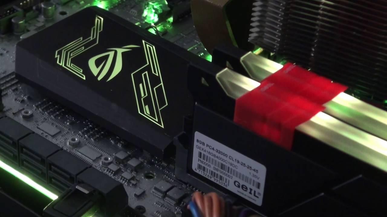 GEIL EVO X DDR4 Memory + ASUS AURA RGB Effect