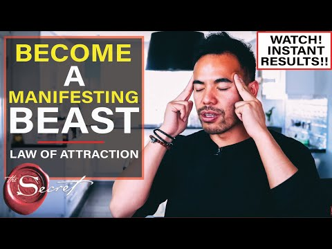How To Become A MANIFESTING BEAST | Law Of Attraction [#1 Explanation For Instant Results!!]