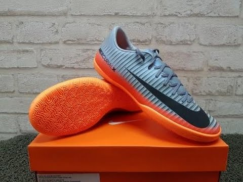 2796f35071 SEPATU FUTSAL NIKE MERCURIALX VICTORY VI CR7 IC GREY ORANGE - YouTube