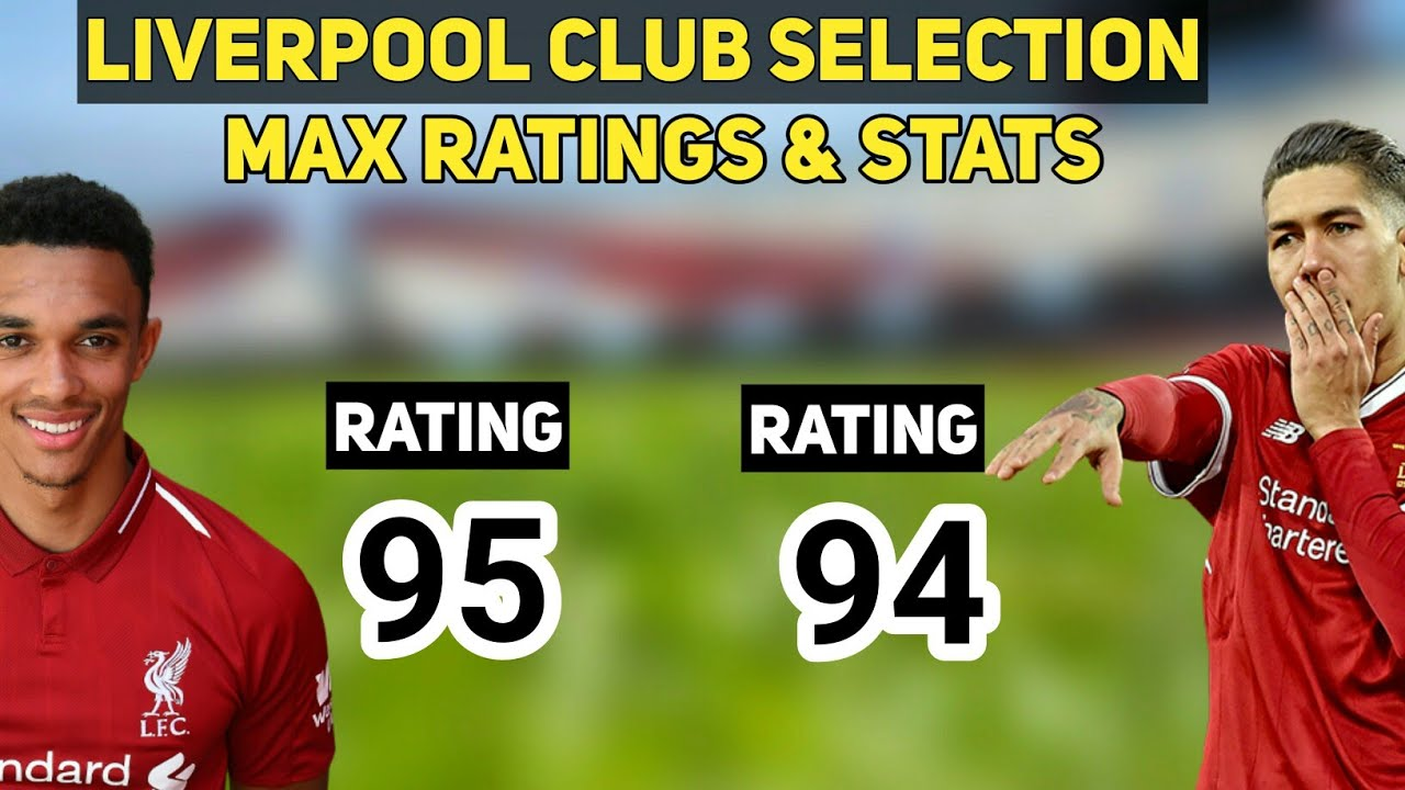 Liverpool Club Selection All Players MAX RATINGS & STATS | PES 2019 Mobile