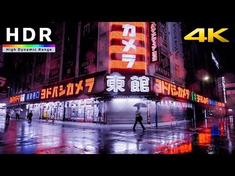 【4K HDR】Shinjuku Rainy Night Walk