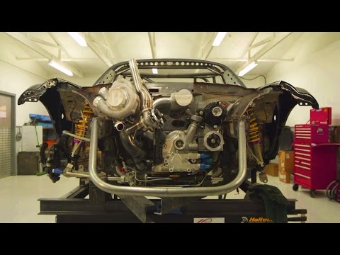 "Twin Turbo 4-Rotor Engine in ""Mad Mike"