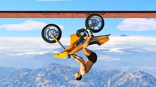UPSIDE DOWN ROCKET BIKE CHALLENGE! (GTA 5 Funny Moments)