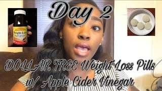 DOLLAR TREE- Nature's Measure Weight Loss Pills Day 2- Update | Weight Loss VLOG