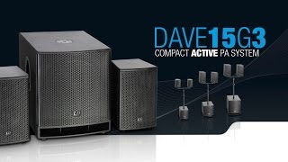 "LD Systems DAVE 15 G3 - Compact 15"" powered PA System"