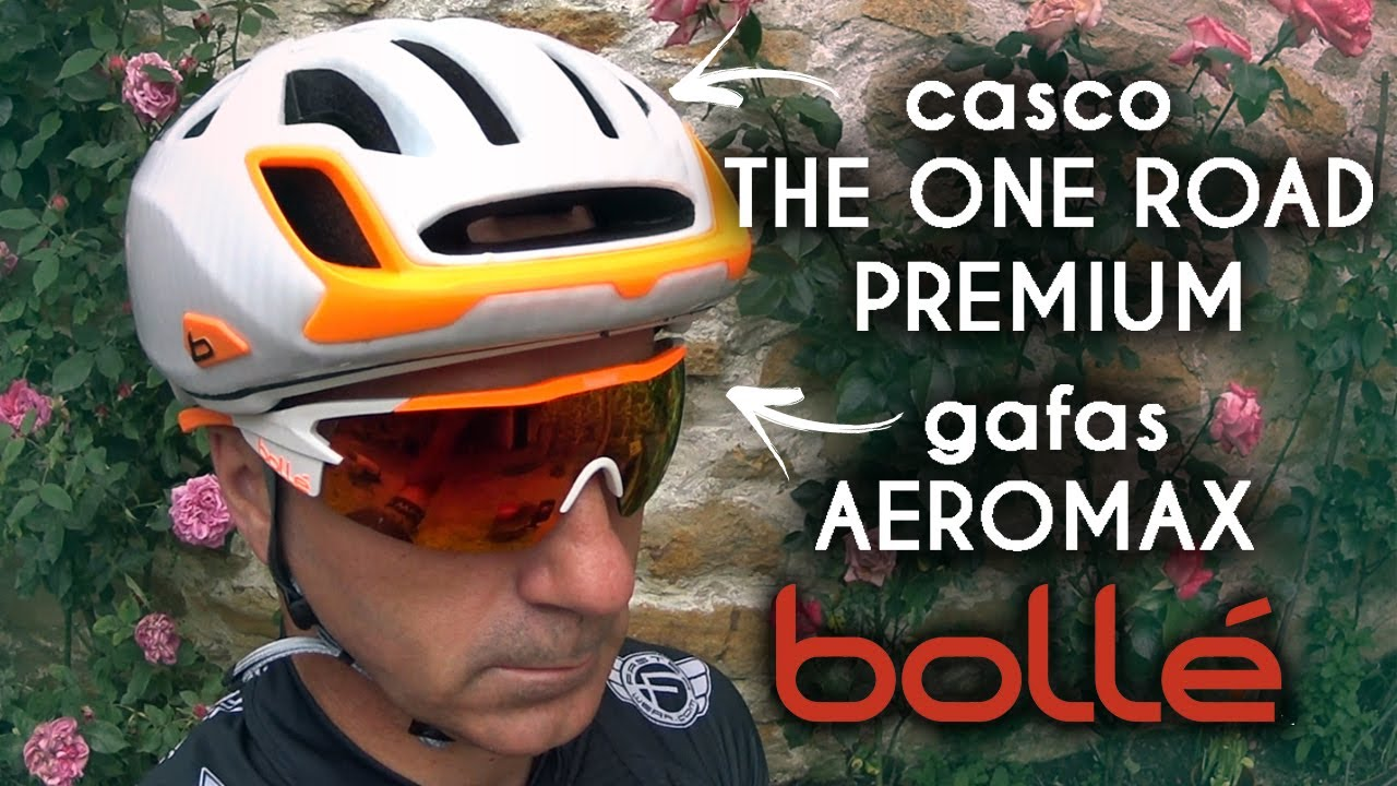 cd970e89db Casco The One Road Premium y gafas Aeromax de Bollé - YouTube