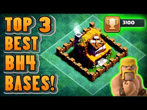 Thumbnail: TOP 3 BEST BUILDER HALL 4 (BH4) BASES W/PROOF! | CLASH OF CLANS: BEST ANTI - 2 STAR BH4 BASES!!