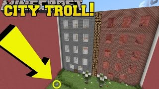 Minecraft: RIDICULOUS CITY TROLLING!!! - Find The Stone Button - Custom Map