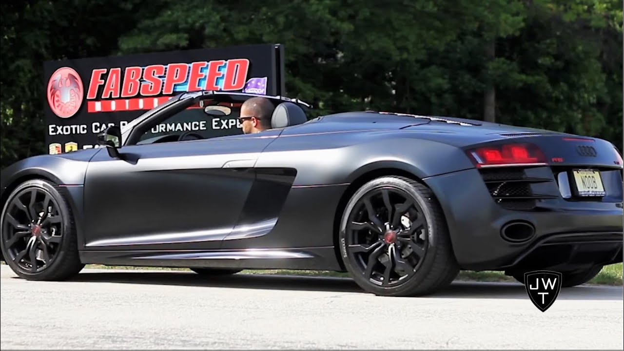 Matte Black Audi R8 V10 Spyder W Supersport Exhaust Revs