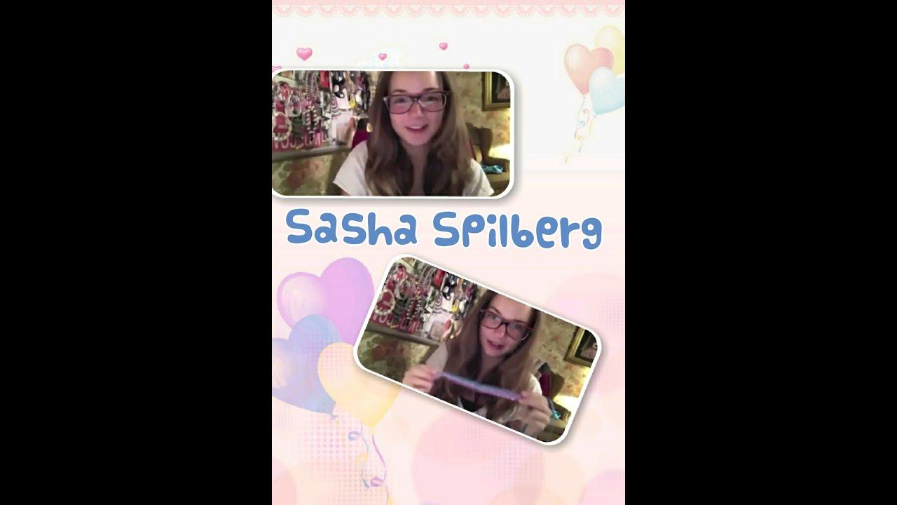 Старое видео Саши Спилберг
